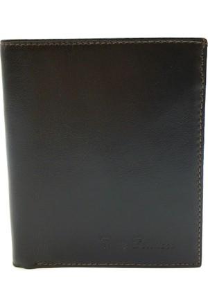 Tony Bellucci T135-998 Kahverengi Gerçek Deri Dik Erkek Cüzdan