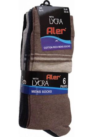 Aler 6'lı Erkek Çorap No:40-44