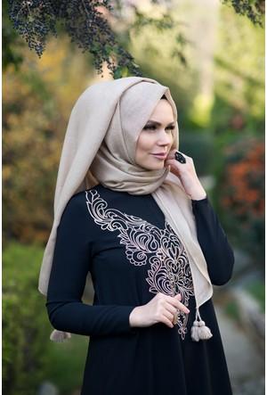 Muslima Wear Queen Püsküllü Şal Bej