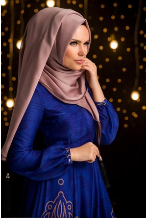 Muslima Wear Şifon Şal Açık Vizon