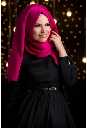 Muslima Wear Şifon Şal Fuchsia