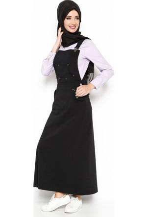 Salopet Elbise - Siyah - Veteks Line