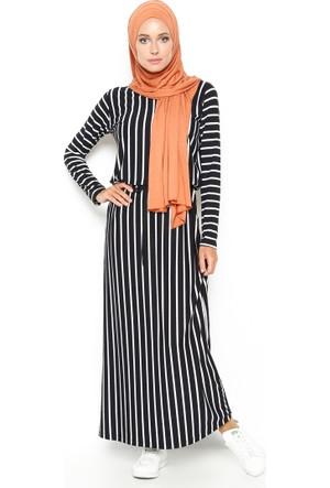 Çizgili Elbise - Siyah - Dadali