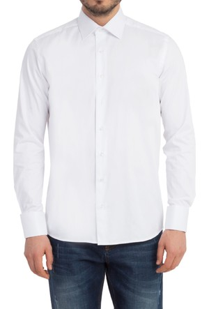 Kiğılı Uzun Kol Manşetli Saten Gömlek 6Y4ECB003