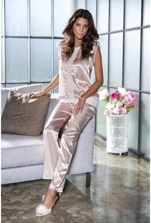 Bondy Saten Pijama Takım