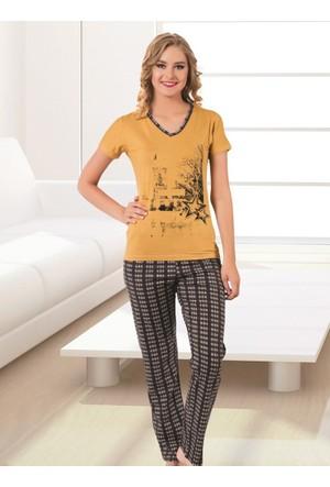 Pijama - Sarı Gri - Akbeniz