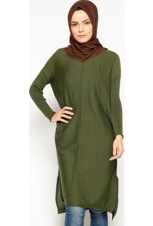 Triko Tunik - Haki - Seyhan Fashion