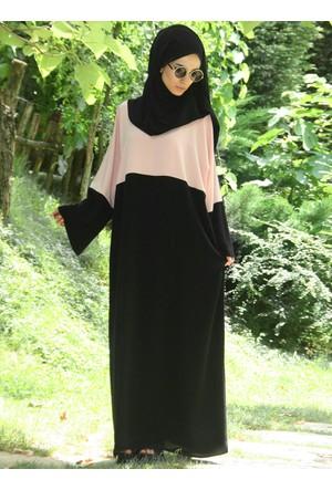 Medine Elbise Ferace - Somon Siyah - Gabra