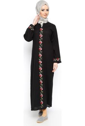 Şile Bezi Elbise - Siyah - Çkr