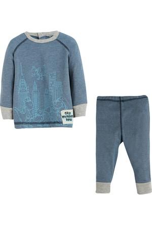 Soobe Hayvan Baskılı Pijama Takımı (0-3 Yaş)