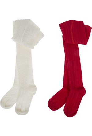 Soobe İkili Külotlu Kız Çocuk Çorap (19-34 Numara)
