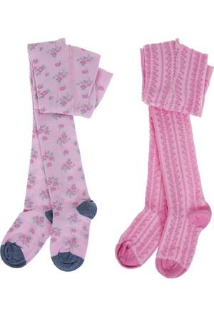 Soobe İkli Külotlu Kız Çocuk Çorap Pembe (19-34 Numara)