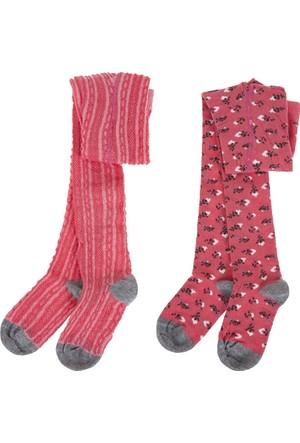 Soobe İkili Külotlu Kız Çocuk Çorap Coral (17-22 Numara)
