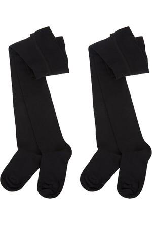 Soobe Kız Çocuk İkili Külotlu Çorap Siyah (19-34 Numara)