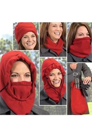 Helen's Fashion Çok Amaçlı Bere (6 Fonksiyon Bir Arada)-Kırmızı