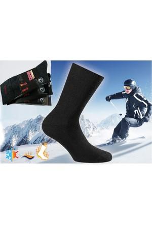 Roff Yüksek Kalite Topuk Burun Takviyeli Erkek Termal Çorap