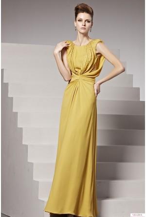 Nelida Farklı Tasarım Boncuk İşlemeli Elbise
