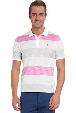 U.S. Polo Assn. Erkek Paul T-Shirt Pembe