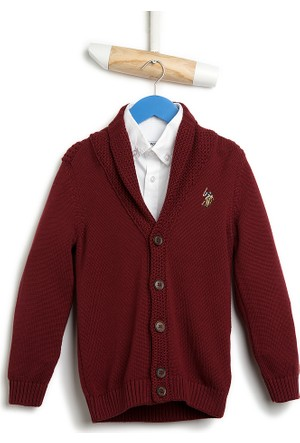 U.S. Polo Assn. Alden Erkek Çocuk Hırka Kırmızı