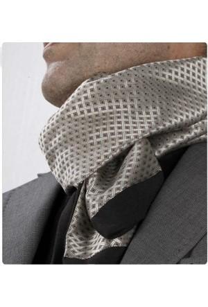 Exve Exclusive Krem Bordo İtalyan Moda Fular Çift Taraflı Erkek Atkı Ae1205