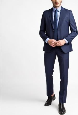 Hateko Altınyıldız Slım Fıt Mavi Takım Elbise