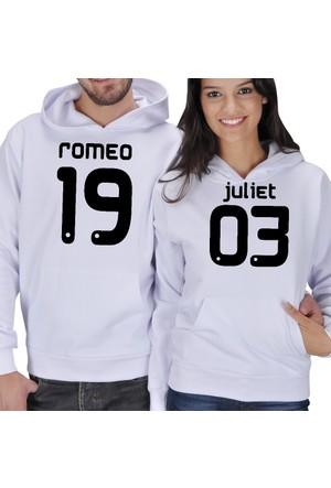 Tisho Romeo - Juliet 1903 Baskılı Sevgili Kapüşonlu Sweatshirt