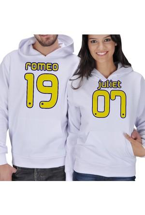 Tisho Romeo - Juliet Baskılı Sevgili Kapüşonlu Sweatshirt