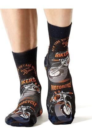 Wigglesteps Bıker Motor Erkek Çorap