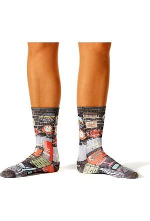 Wigglesteps Garage Retro Erkek Çorap