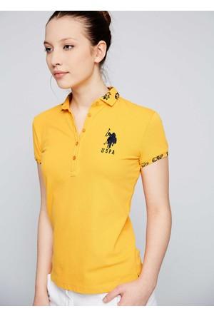 U.S. Polo Assn. Kadın Sd01İy07-011 T-Shirt Hardal