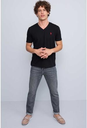 U.S. Polo Assn. Erkek Gts02İy7 T-Shirt Siyah