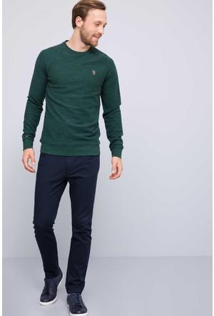 U.S. Polo Assn. Erkek Ponse Sweatshirt Yeşil