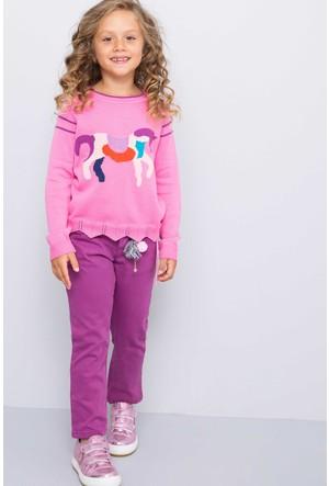 U.S. Polo Assn. Kız Çocuk Demy Pantolon Pembe