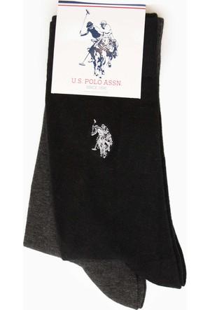 U.S. Polo Assn. Erkek Jacksk7 Çorap Gri