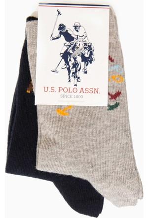 U.S. Polo Assn. Erkek Çocuk Justin Çorap Gri