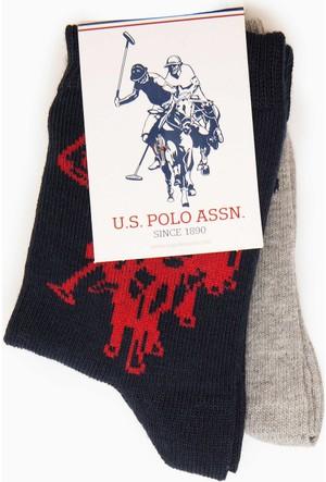 U.S. Polo Assn. Erkek Çocuk Kayt Çorap Lacivert