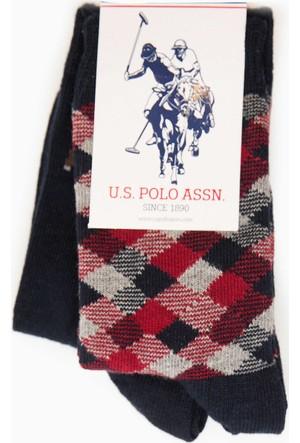 U.S. Polo Assn. Erkek Çocuk Martiksk7 Çorap Lacivert