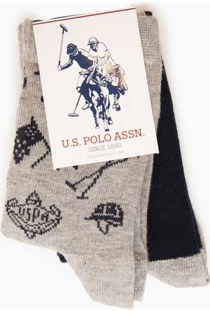 U.S. Polo Assn. Erkek Çocuk Memphisk7 Çorap Gri