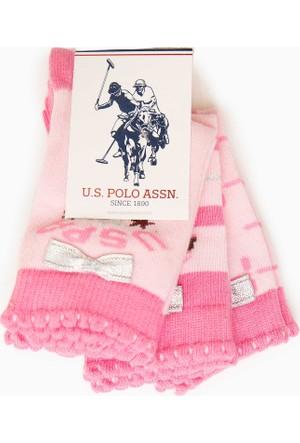 U.S. Polo Assn. Kız Çocuk Natalie Çorap Pembe