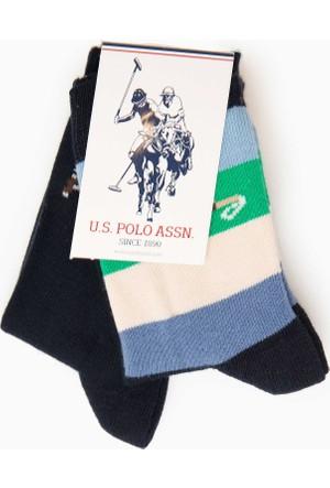 U.S. Polo Assn. Erkek Çocuk Sam Çorap Yeşil