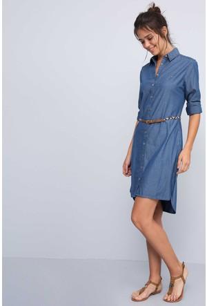 U.S. Polo Assn. Kadın Seina Elbise Mavi