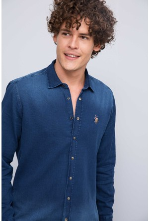 U.S. Polo Assn. Erkek Dario-K Gömlek Lacivert