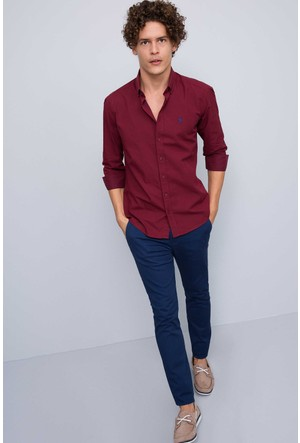 U.S. Polo Assn. Erkek Squaman Gömlek Kırmızı