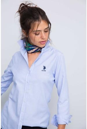 U.S. Polo Assn. Kadın Wox17K Gömlek Açık Mavi