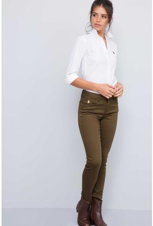 U.S. Polo Assn. Kadın Prettx7S Pantolon Yeşil