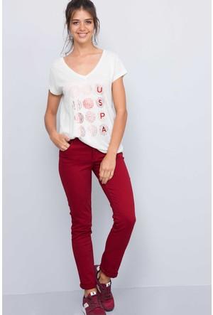 U.S. Polo Assn. Kadın Tina7S Kot Pantolon Kırmızı