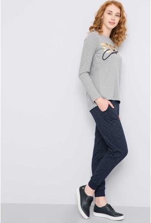 U.S. Polo Assn. Kadın Gerhes Sweatshirt Gri Melanj