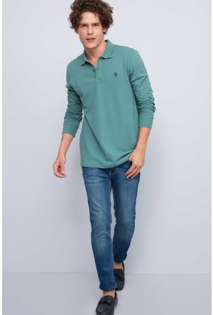 U.S. Polo Assn. Erkek Gtp01Sk7 Sweatshirt Yeşil