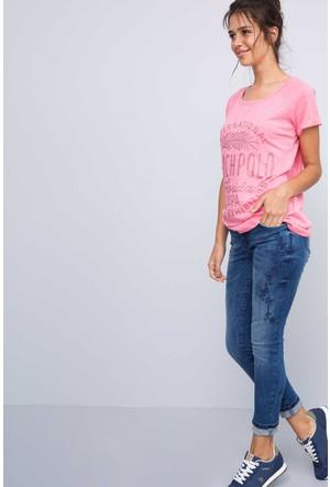 U.S. Polo Assn. Kadın Call T-Shirt Pembe