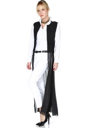 Sense 14585 Beli Gübürlü Uzun Ceket